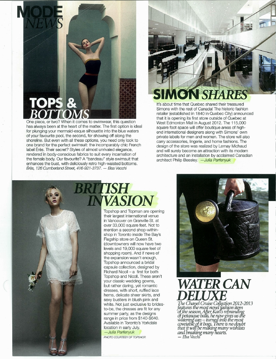 Fashion news - Topshop, Simon