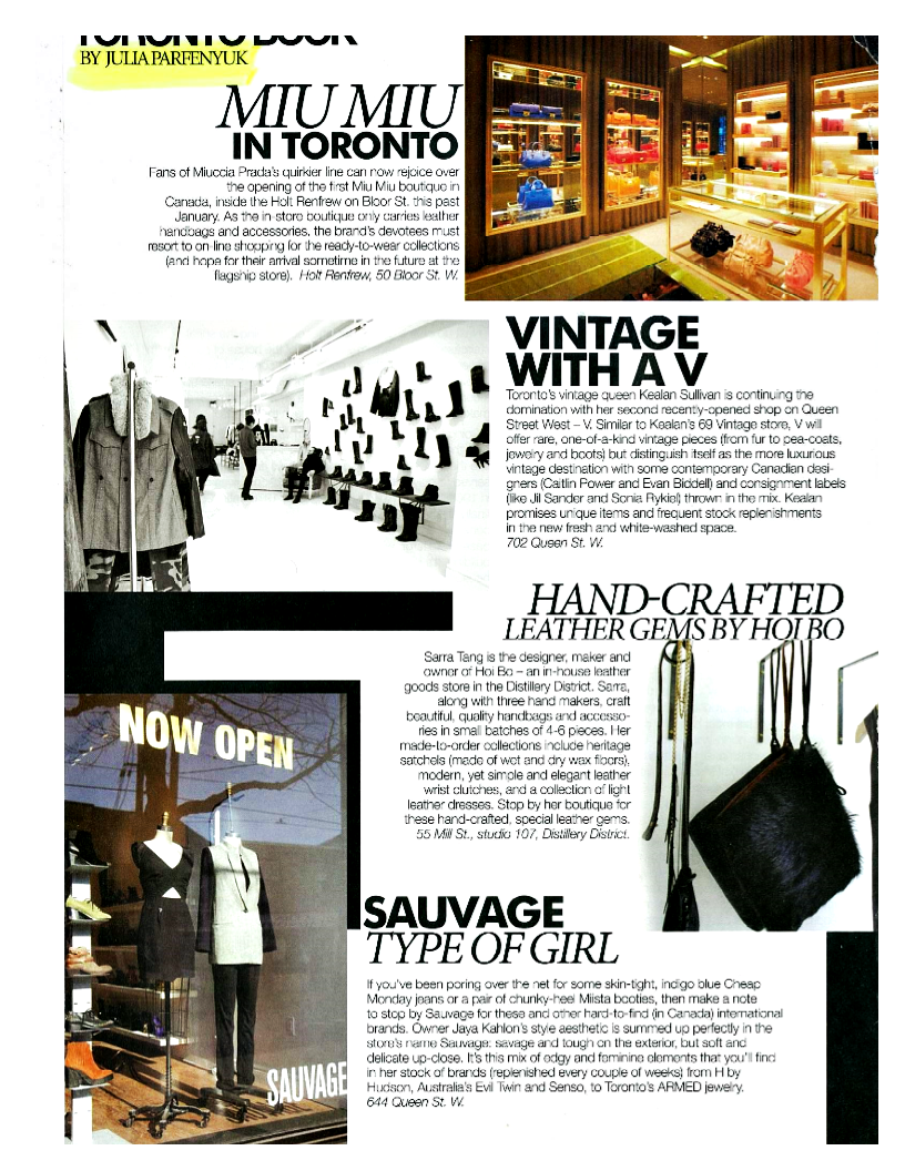 Toronto Fashion Book
